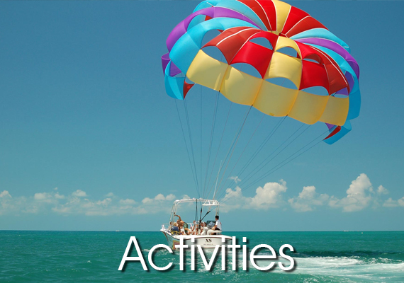 All your family members can enjoy with the watersport activities; jet ski, flyfish, parasailing banana and all others.